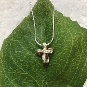 .925 Sterling Silver Ribbon Cross